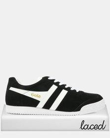 Gola Harrier Suede Sneakers Black/White