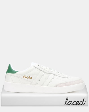 222e379d7b2 Gola Inca Leather Sneakers White Green