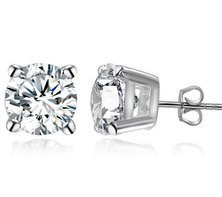 Dhia Fancy White Stud Earrings Swarovski Zirconia