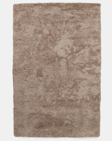 36 Lush Living Comfort Shaggy Rug Gold Beige