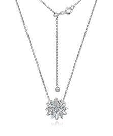 Dhia Flower Necklace and Earrings Set Swarovski Zirconia