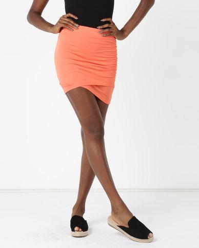 Betty Basics Madrid Wrap Skirt Tangello