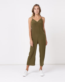 Nucleus Simple Jumpsuit Olive