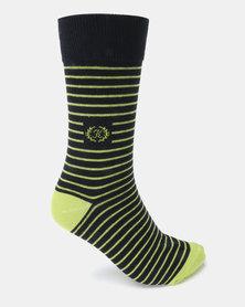 Klevas Malibu Stripe Socks Green