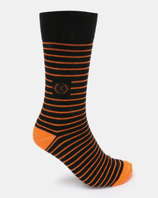 Klevas Malibu Stripe Socks Orange