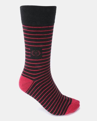 Klevas Malibu Stripe Socks Red