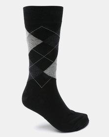 Klevas Don Argyle Socks Black