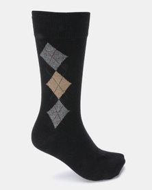 Klevas Torino Diamond Socks Black