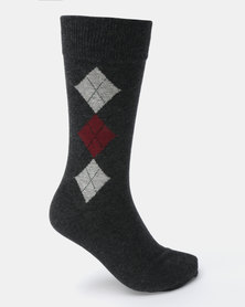 Klevas Torino Diamond Socks Grey