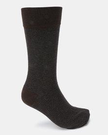 Klevas Horizon Stripe Socks Choc