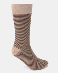 Klevas Horizon Stripe Socks Stone