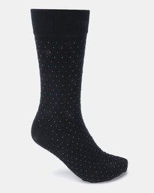 Klevas Sphere Dot Socks Navy