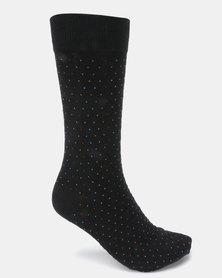Klevas Sphere Dot Socks Black