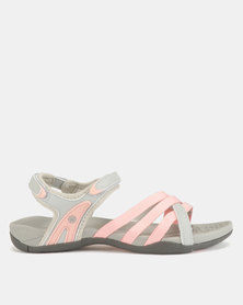 Hi-Tec Savanna II Sandals Grey Dust/Pink