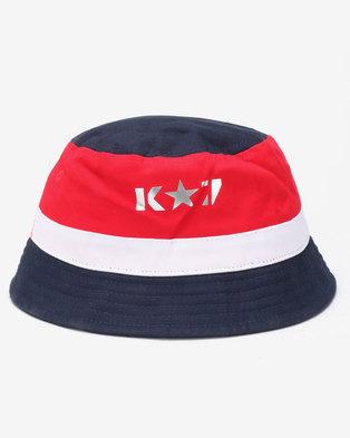 bd030c5563e64 K7 STAR Outcast Bucket Hat Navy