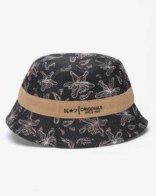K7 STAR Franco Reversible Bucket Hat Stone/Grey