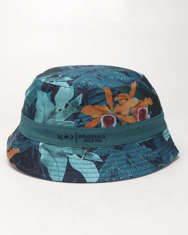 K7 STAR Franco Reversible Bucket Hat Teal  eb98af151821