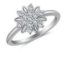 Flower Ring embellished with Swarovski Zirconia