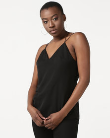Daisy Street Strappy Top Black