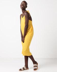 Glamzza Sunshine Midi Dress Yellow