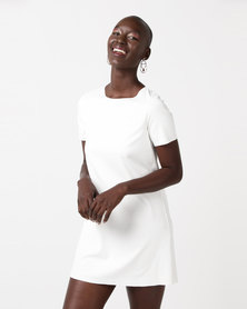 Glamzza J'adore Mini Dress White