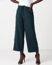 Glamzza Wide Leg Trousers Green