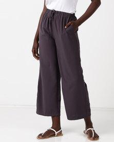 Glamzza Wide Leg Trousers Grey