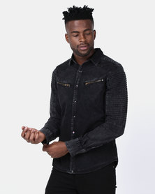 Soviet M Rockford Long Sleeve Fashion Shirt Black
