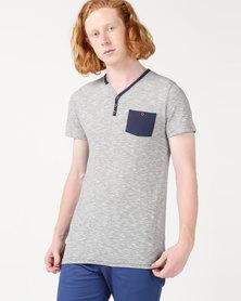 Beaver Canoe Paul Jones Y-Neck Pocket T-Shirt White