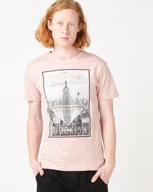 Beaver Canoe Swagga Brooklyn Street T-Shirt Pink