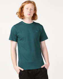 Beaver Canoe Swagga Basic Rib Neck T-Shirt Teal