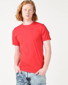 Beaver Canoe Swagga Basic Crew Neck Roll-Up T-Shirt Red
