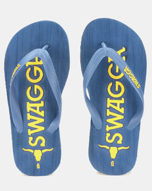 Beaver Canoe Swagga Embossed EVA Sandals Navy