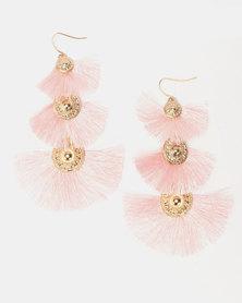 Legit Tired Fan Earrings Light Pink