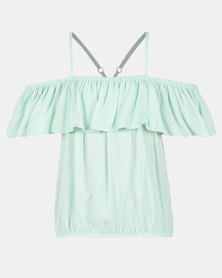 Legit Ots Frilled Strappy Top Mint