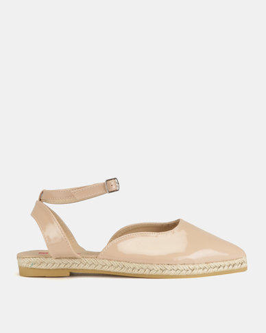 Legit Pointed Espadrille With Ankle Strap Blush