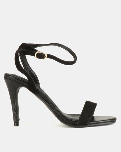 78ced1903d8 Legit Square Toe Single Band With Ankle Strap Heels Black