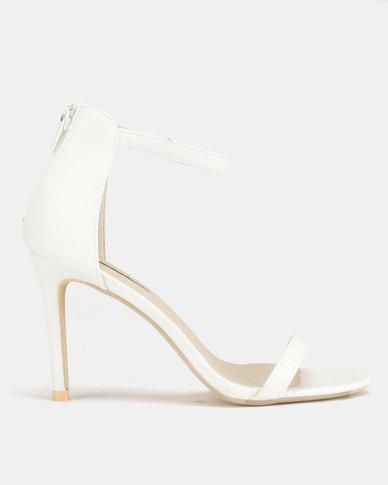 Legit Plain Single Band Heels White