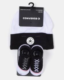 Converse Beanie & Booty Socks Black