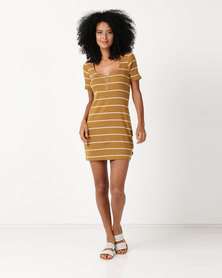 RVCA Donner Dress Beeswax