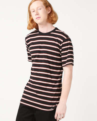 RVCA Brong Stripe Tee Black