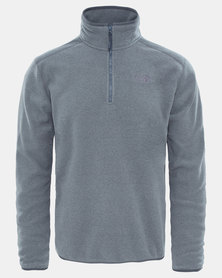 The North Face 100 Glacier 1 4 Zip Sweatshirt Grey