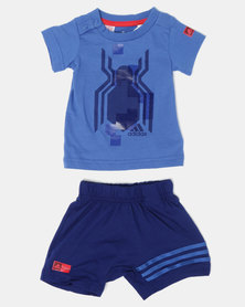 adidas Originals Toddler Tee & Shorts Set Blue