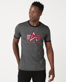 Alpha Industries Jester Ringer T-Shirt Black