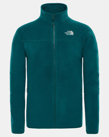 The North Face 100 Glacier Full Zip Sweatshirt Green