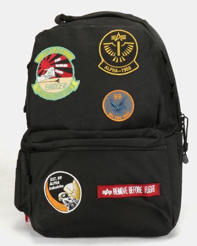 innowacyjny design szczegółowy wygląd nieźle Alpha Industries Army Backpack Black