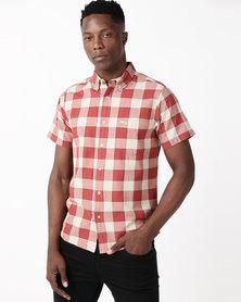 Wrangler Squared Shirt Brick