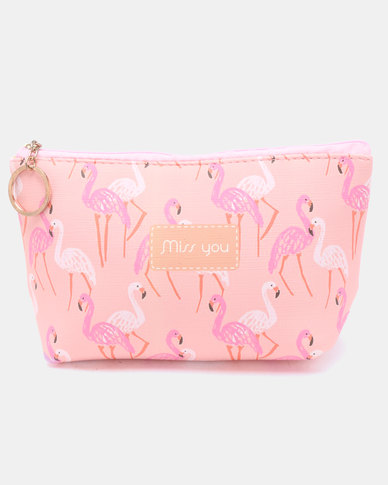 Lily & Rose Flamingo Miss You Cosmetic Bag Pink