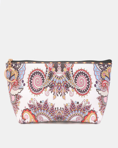 Lily & Rose Indian Print Cosmetic Bag Multi