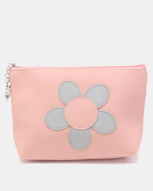 Lily & Rose Round Flower Cosmetic Bag Pink